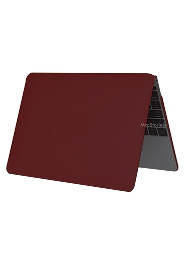 "Mcstorey MacBook Pro A1286 15.4"" Kılıf Kapak Koruyucu Ruberized Hard Incase Mat Bordo"